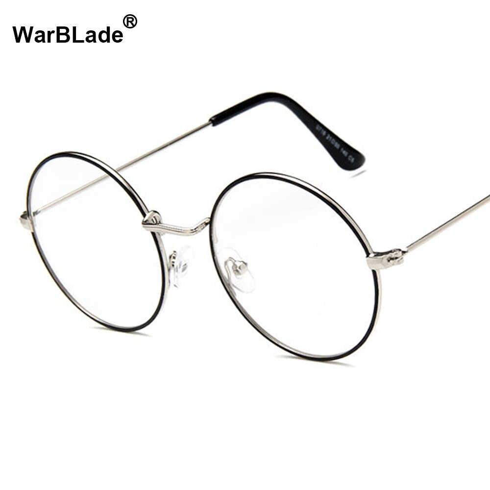 778485b4f97c ... Women Vintage Glasses Frame Plain Mirror Big Round Metal Optical Frame  For Girl Eyeglass Clear Lens ...