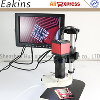 13MP 60FPS HDMI VGA Industrial Microscope Camera+130X lens+LED light+stand holder+8 LCD Monitor For Phone PCB Chip Repair