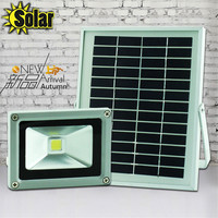Hot 5W Solar Panel Power White 10W LED Flood Night Light Waterproof Outdoor Garden Decoration Landscape