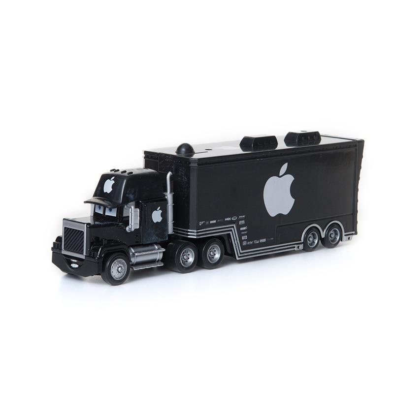 Disney Pixar Cars 2 3 Toys Black Apple Truck Lightning McQueen Jackson Storm Mack Uncle 1:55 Diecast Model Car Toy Kids Gift