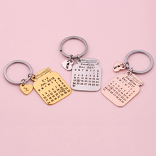Creative Personalized Custom-Made Stainless Steel Calendar Keychain