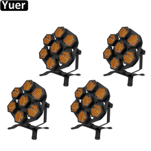 4Pcs/Lot 7X100W Retro Flash Light Projector DJ Laser Stage Light Magic Effect Disco With Controller Moving Head Party Stage Lamp