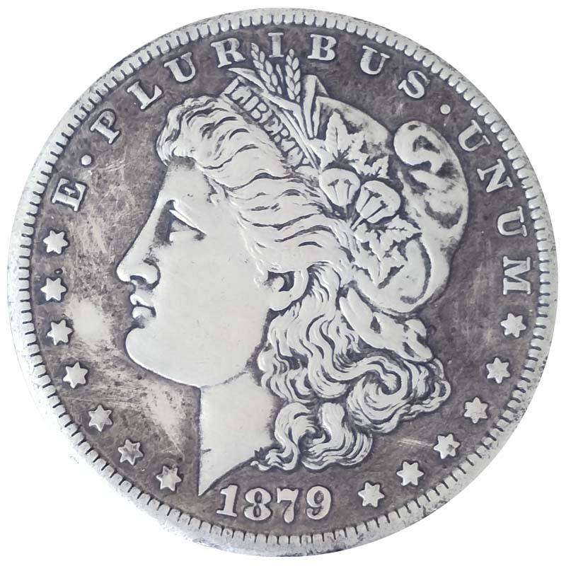 US $2 56 |1879 American copy coins decoration liberty Morgan dollar antique  silver replica full versions replica collectible coins-in Non-currency