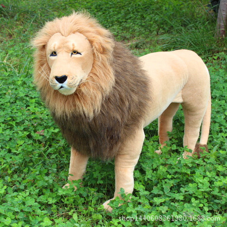 simulation animal huge 110x75cm standing lion plush toy birthday gift w5141