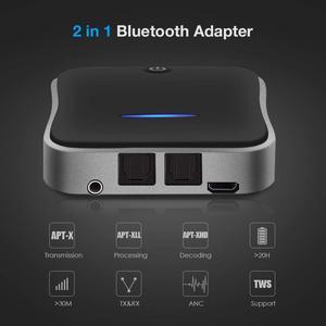 Image 5 - Bluetooth 5.0 משדר מקלט aptX HD השהיה נמוכה אודיו 3.5mm Aux/RCA/SPDIF Bt מוסיקה אלחוטי מתאם עבור טלוויזיה/אוזניות/רכב