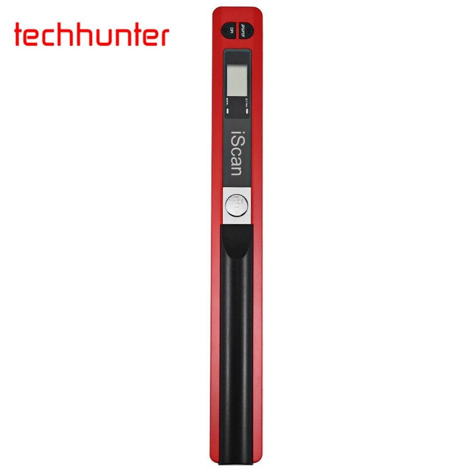 Prix pour Techhunter De Poche Mobile Portable Document Scanner 900 DPI LCD Support D'affichage JPG/PDF Format Sélection