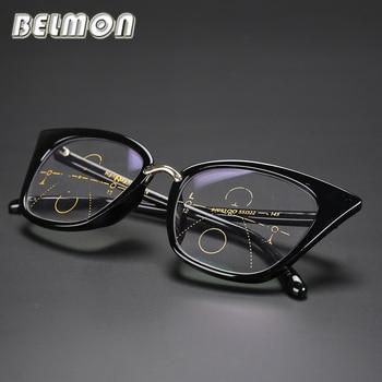 195e0d7659 Gafas de lectura Multi-Focal progresivo presbiópico ojo de gato gafas de  mujer + 1,0 + 1,25 + 1,50 + + 1,75 + 2,00 + 2,25 RS045
