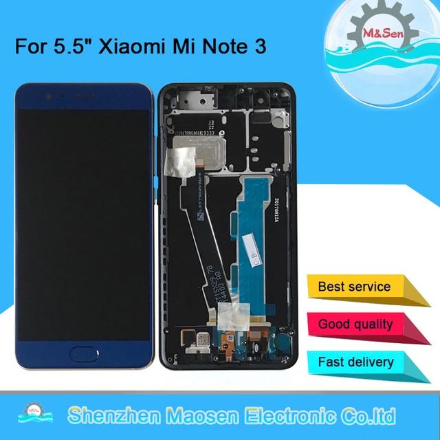 """5.5 """"Original M & Sen pour Xiao mi mi Note 3 écran daffichage LCD + écran tactile numériseur avec empreinte digitale avec cadre mi Note 3 + outils"""