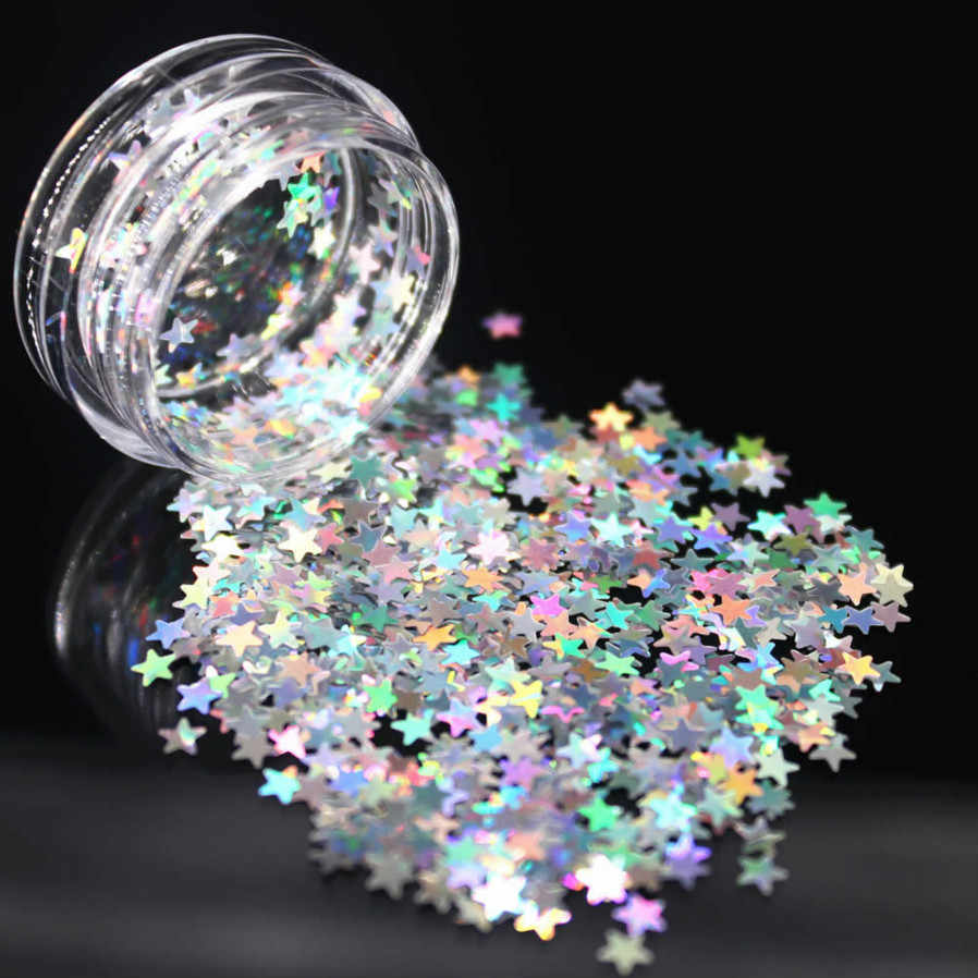 1Box Silver Holographic Sequins Glitter Shimmer Diamond 12 Color Eye Shiny Skin Highlighter Face Glitter Festival Makeup Start