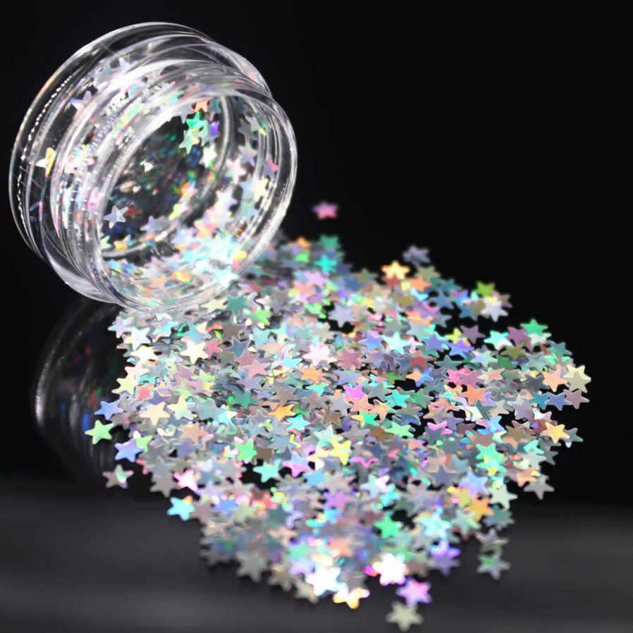 1 Doos Zilveren Holografische Pailletten Glitter Shimmer Diamond 12 Kleur Eye Shiny Skin Markeerstift Gezicht Glitter Festival Make Start