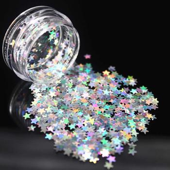 1Box srebrny holograficzny cekiny brokat Shimmer diament 12 kolor oczu błyszczący skóry wyróżnienia twarzy brokat festiwal makijaż Start tanie i dobre opinie Federacja rosyjska