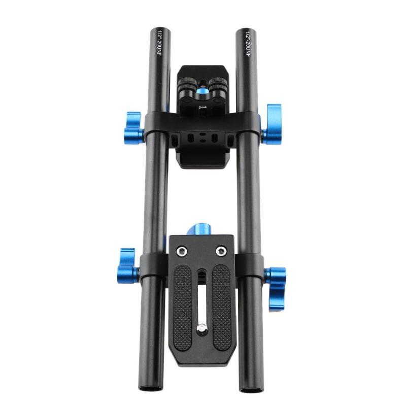 Aluminium Alloy Universal Rail System Camera Video DV Stabilizer Slider Rail Track With 1/4 Inch Camera Screw Mount Adapter