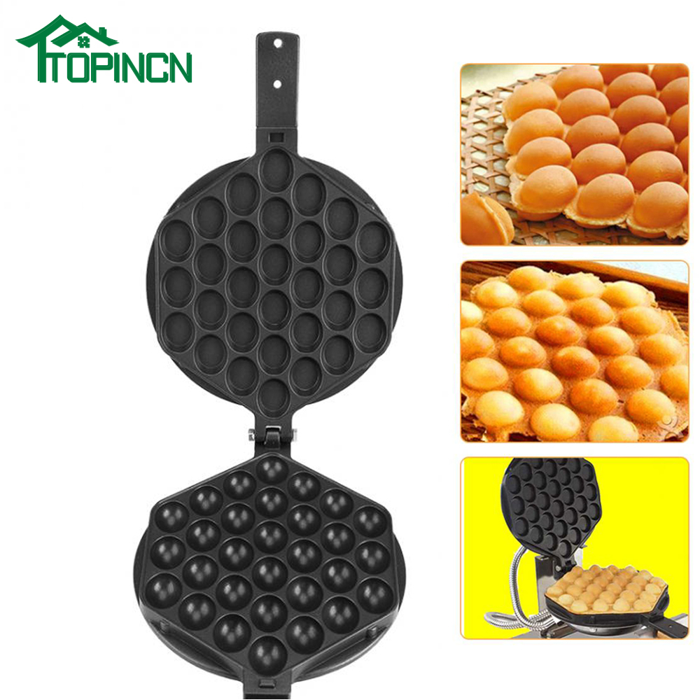 Professional Egg Bubble Puff Cake Waffle Maker Machine Nonstick Waffle Baking Pan Tool For Home Commercial Use Kitchen Tools