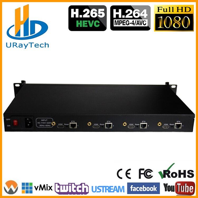 Encodeur vidéo HEVC 4 canaux HDMI H.265 H.264