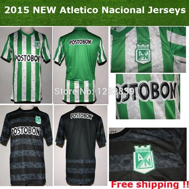 c519b64d6 Top Thai quality Colombia Club Atletico Nacional 14 15 Home Soccer jerseys  Away football shirts uniform camisetas de futbol 2015