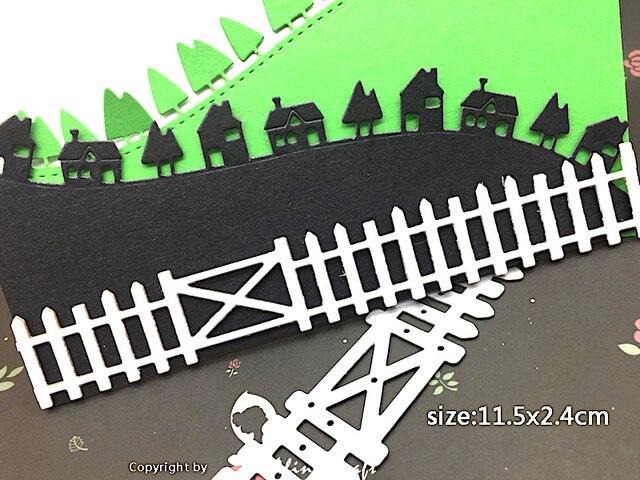 Houten Hekwerk Tuin : Metalen stansmessen cut mes schimmel houten hek boerderij tuin
