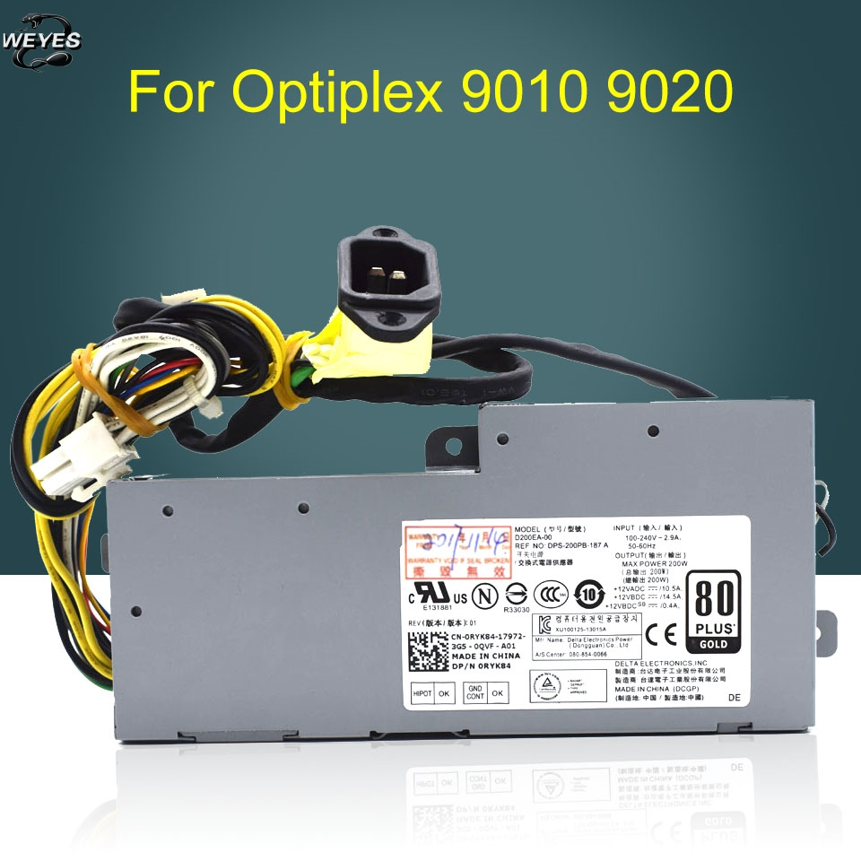 D200EA-00 VVN0X CRHDP for Optiplex 9020 AIO PSU 200W Power Supply k345r 305w power supply for dell optiplex 980 f305p 00