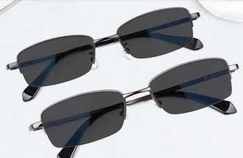 Eyesilove men\'s metal myopia glasses degree lenses sun glasses grey prescription eyewear -0.50 -1.00 to -6.00 for free shipping