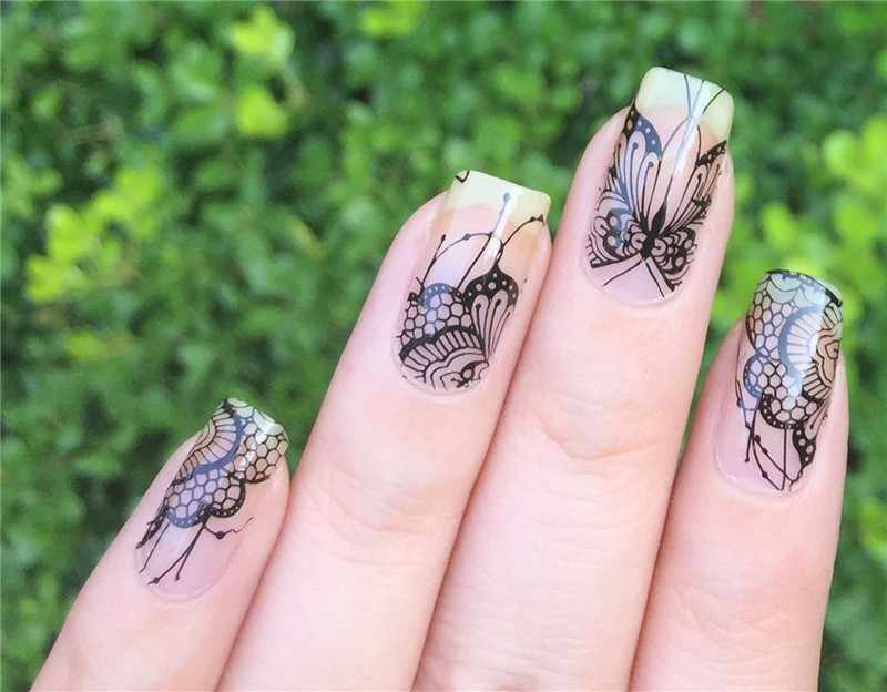 Increíble Mariposa Diseño De Uñas Fotos Regalo - Ideas de Pintar de ...