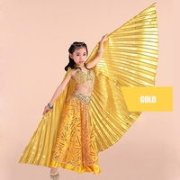 Children Dance Performance Props Belly Dance Accessories Egyptian Gold Wings Non Split Gold Silver Isis Wings