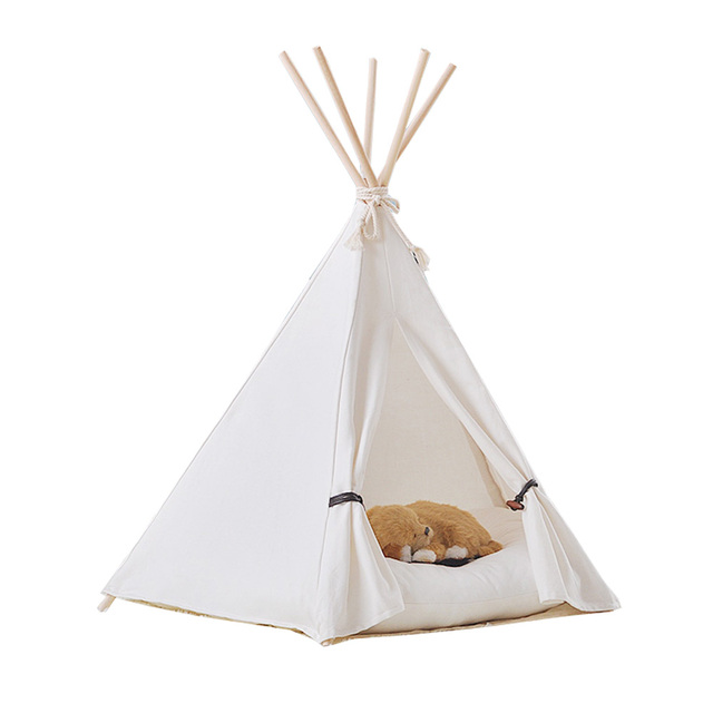 New pure white color Dog Bed Dog House Pet play House play teepee tent dog play  sc 1 st  AliExpress.com & New pure white color Dog Bed Dog House Pet play House play teepee ...