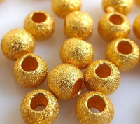 10pcs 999 24K Yellow Gold Pendant Sandstone Loose Bead Pendant