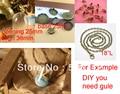Free shipping >>20sets DIY 38mm Glass Globe Pendant Locket Charm opening 25mm /Glass pendant