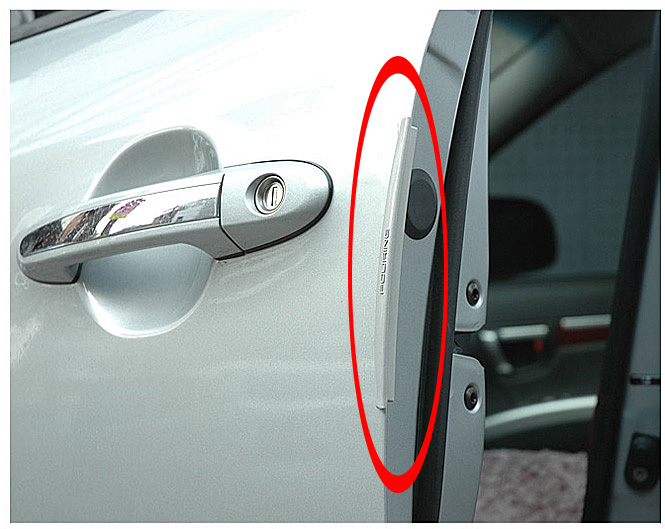8 Pcs Carbon Fiber Style Car Door Handle Protective Film Stick CL