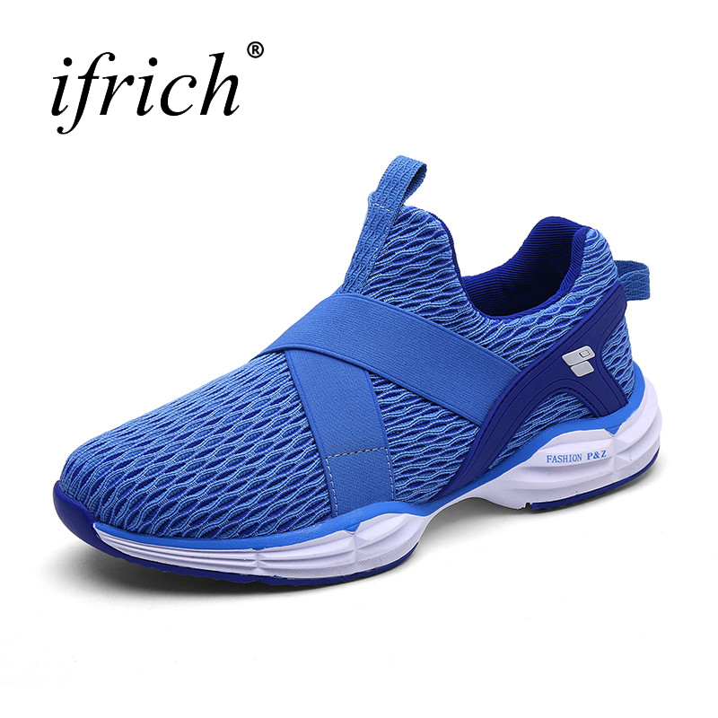 Cheap Trainers Sport New Arrival Men Running Shoes 2017 Mens Sneakers Slip On Walking Jogging Shoes Spring Summer Men Gym Shoes