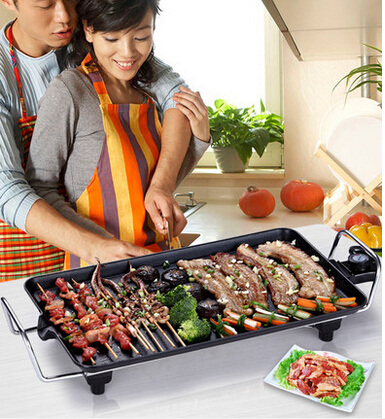 Electric Grill Home Barbecue Table Griddles Bbq Non Stick Griddle Pan