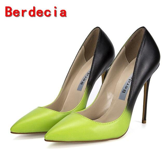142de52cdf5 Berdecia sapato feminino sapatos de grife das mulheres de luxo 2017 extrema  bombas dedo do pé