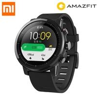 ЕС наличии английская версия Xiaomi HUAMI AMAZFIT Stratos gps смарт спортивные часы 2 версии 5ATM Водонепроницаемый Сенсорный экран часы Для мужчин