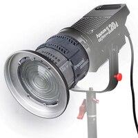 Aputure LED Video studio Light Kit LS C120d V mount kit & Fresnel mount kit LED Studio Light photography lighting