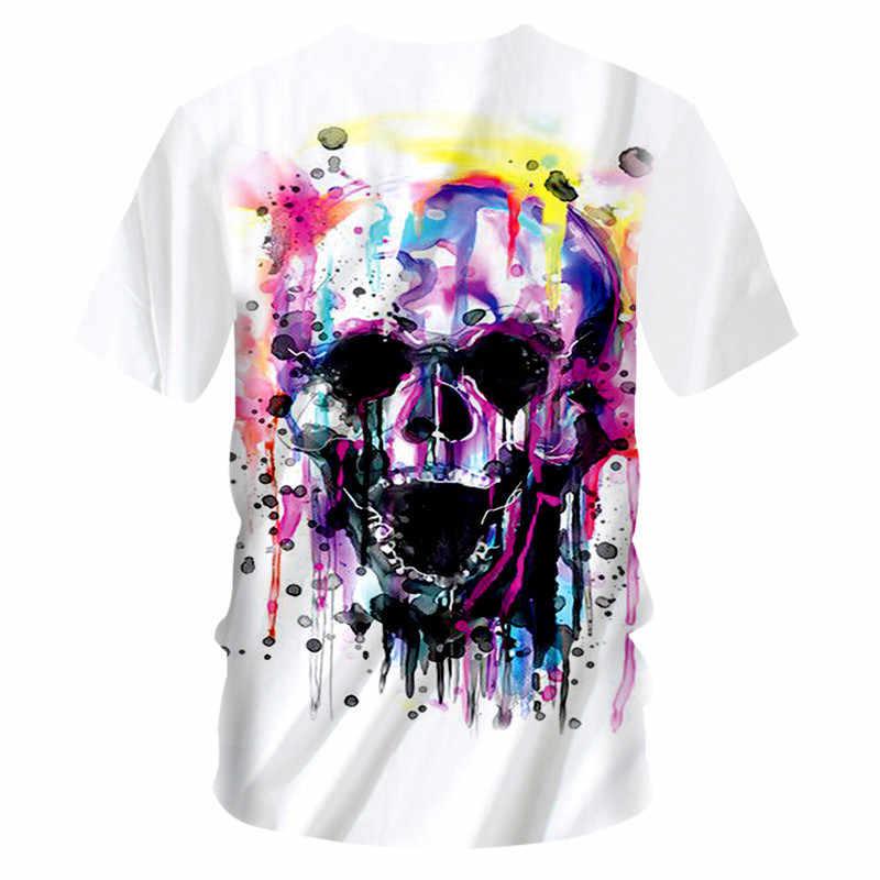 CJLM Футболка мужская летняя Топ 3d принт Мотоцикл Череп футболки джокер футболка металлический череп Повседневная футболка мужская хип-хоп с круглым вырезом футболки