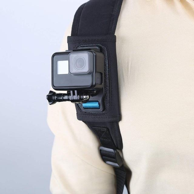 TELESIN 2018 New Universal Quick Release Strap Mount Adjustable Shoulder Backpack Pad Holder for GoPro Hero 7 6 5 4 3 SJCAM EKEN