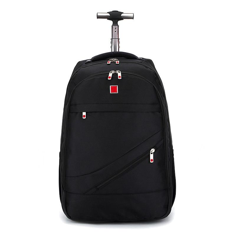 Beasumore Black Oxford Trolley Case Travel Bag 18 Inch Men