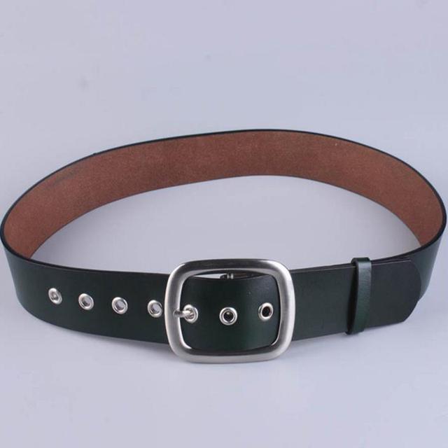Nuevo Cuero Negro Cinturón Ancho Faja Salvaje de La Moda Capa de piel de Vaca Femenina Versión Coreana De La Tendencia De Piel De Decoración de La Cintura
