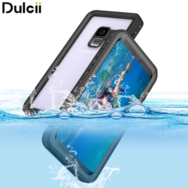 new product b720a 47fb8 US $20.69 |DULCII FOR Samsung Galaxy S9 S9+ Case IP68 Waterproof Pouch  Dirt/Dust/Snow Proof PC + TPU Hybrid Case for Samsung S9 Plus Coque -in  Phone ...