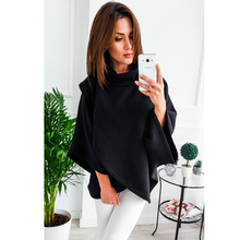 Warm Asymmetrical Turtleneck Oversized Hoodie Sweatshirt