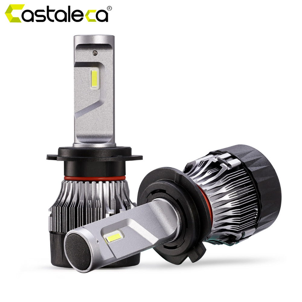Castaleca Car Front Headlight 2x H4 H7 Led H11 H8 H1 Automotivo Headlights 9005 Hb3 9006 Hb4 Car Styling Bulb 58w Accessories To Prevent And Cure Diseases Car Lights Car Headlight Bulbs(led)