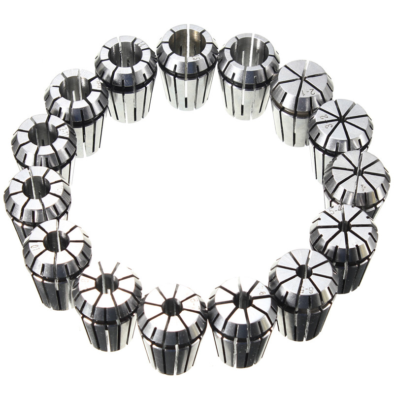 Hot Sale 15pcs/Set (2mm-16mm) ER25 Precision Spring Collet For Lathe Chuck  For CNC Milling Engraving Machine New Arrival стоимость