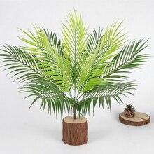 51*20 см 9 головы искусственный букет из папоротника листья пальмы зеленые пластиковые растения домашний декор для вечеринки