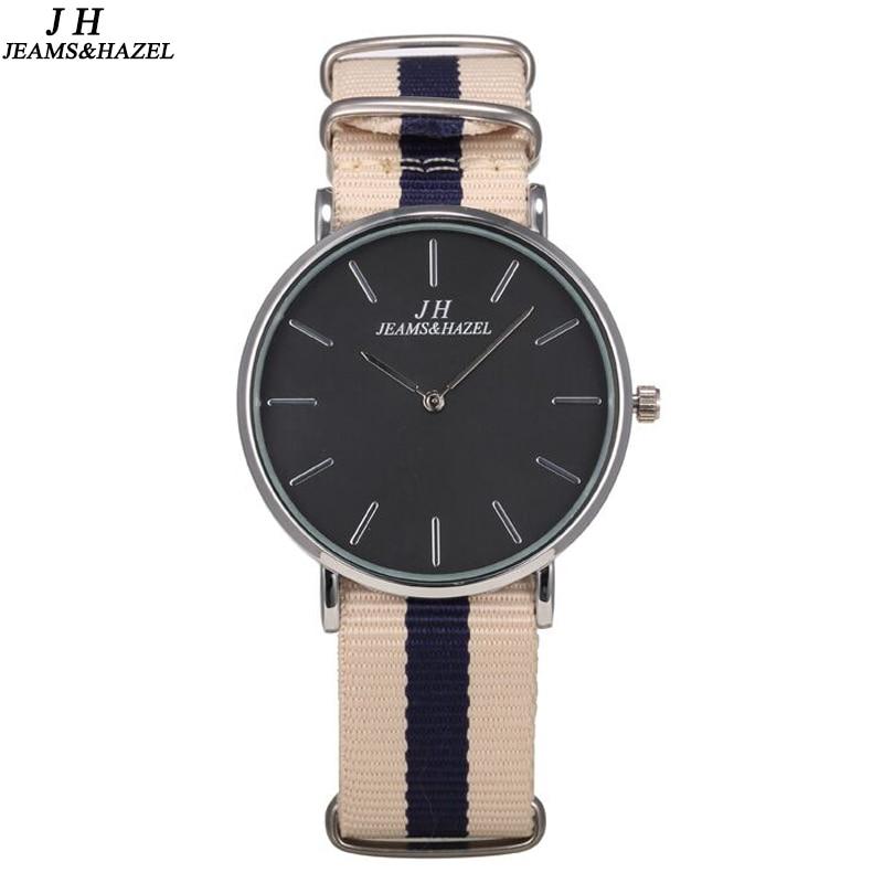 JEAMS HAZEL Slim Casual Style Sports Military Watch Men NATO Nylon Quartz wristwatch