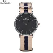 Купить с кэшбэком Watch Men Women Wristwatch Sport Watch Nylon Fabric Canvas Casual Watch Super Thin Geneva Watch Relogio Masculino Clock