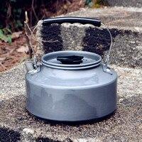 Aluminium Przenośne Metalowe Herbaty Dzbanek Do Kawy Czajnik 1.1L Waterpot Główna Odkryty Camping Czajnik Z Oczek Worka
