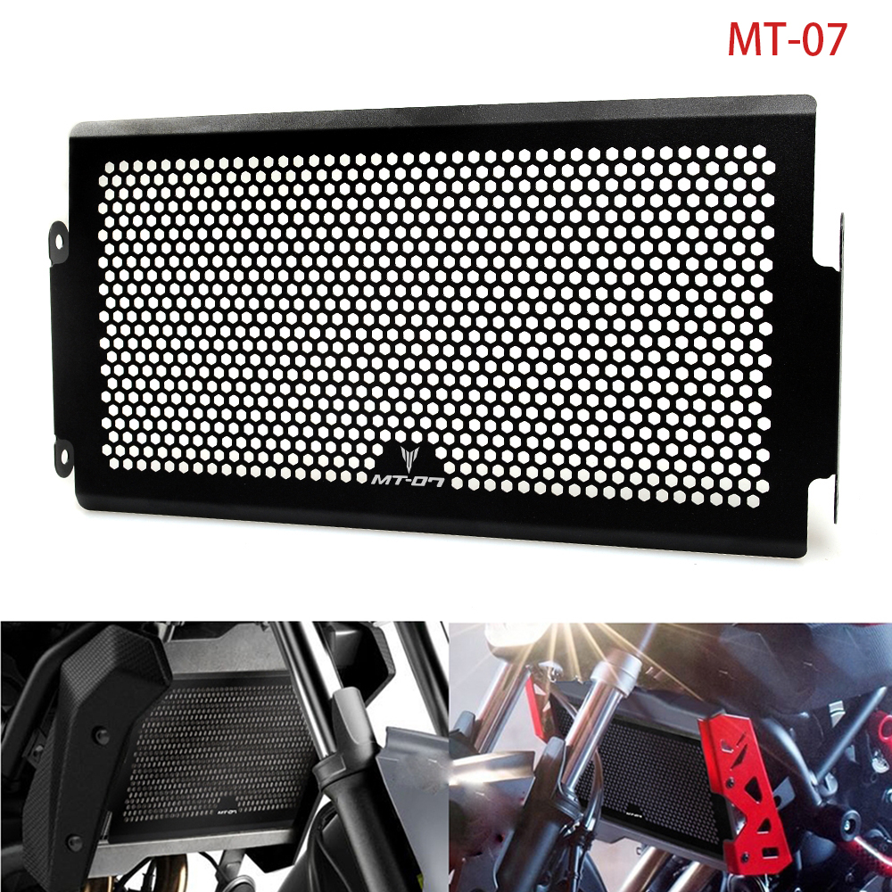 motorcycle cnc Aluminium Radiator Side Guard Grill Grille Cover Protector for Yamaha MT07 MT-07 mt 07 2014 2015 2016 14 15 16 mt for yamaha mt07 mt 07 2014 2015 engine radiator bezel grille protector grill guard cover protection black motorcycle accessories