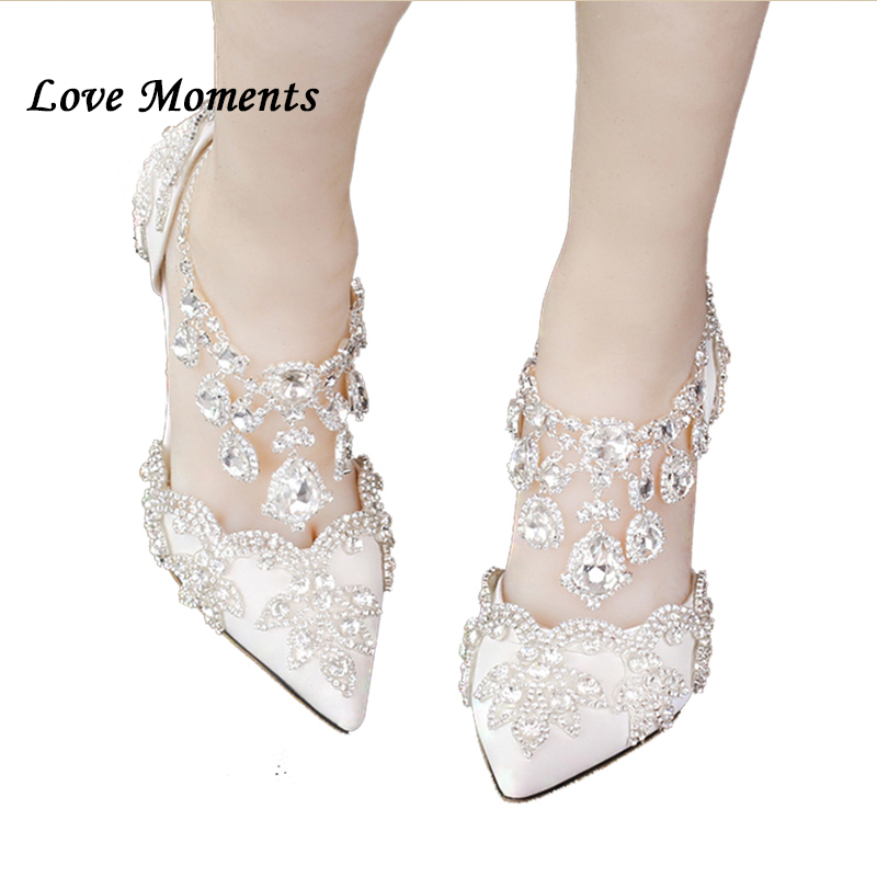 Pointed toe rhinestone ultra high heels wedding shoes banquet formal dress shoes luxury crystal tassel ankle strap woman pumps rhinestone wedding shoes ultra high heels thin heels wedding shoes aesthetic pointed toe formal dress shoes sandals
