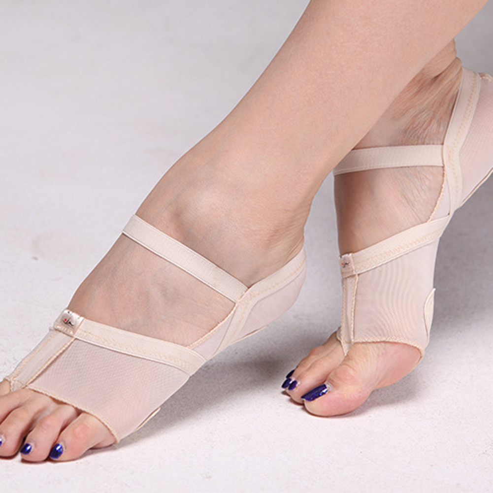 1 Pair Heel Protector Professional Ballet Dance Socks Dancing Foot Thong Toe Pads Feet Protector Dance Accessories Size S/M/L 5 pairs slica gel silicone shoe pad insoles women s high heel cushion protect comfy feet palm care pads accessories