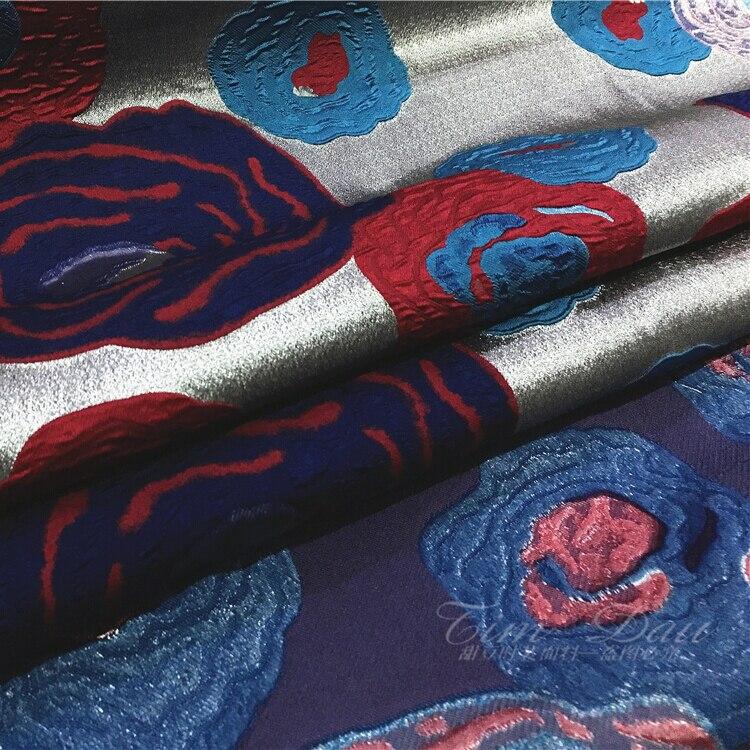 Abstracte bloemen jacquard stof jurk kind jas seizoenen haute couture - Kunsten, ambachten en naaien - Foto 4