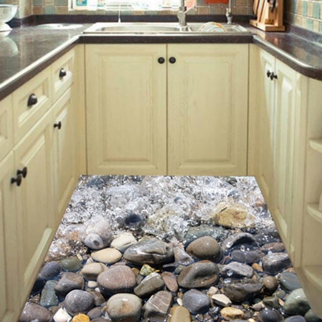 Creative River Stone Wall Sticker 3D Cobble Waterproof Bathroom ...